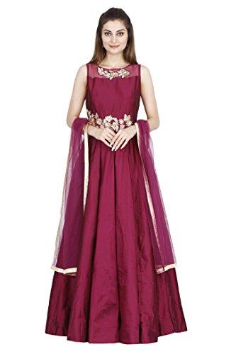 Salwar Suits for Women (Manmandir Silk Gown Anarkali Salwar Kameez Readymade)
