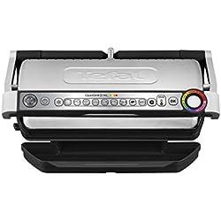 Tefal OptiGrill XL GC722D Kontaktgrill (mit XL-Grillfläche, Plus-Modell mit zusätzlichen Temperaturstufen, 2.000 Watt, automatische Anzeige des Garzustands, 9 voreingestellte Programme) schwarz/silber