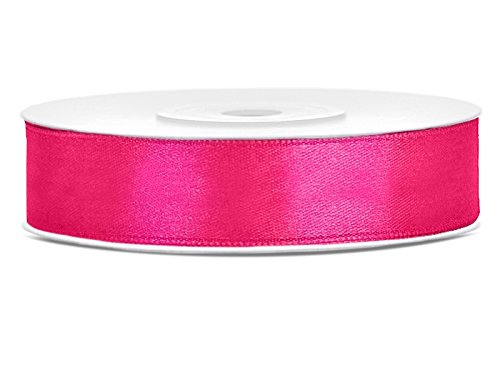 Like a Girl - wir lieben Hochzeiten 25m lang / 12mm breit Satinband Schleifenband Dekoband Satin Antennenschleifen (Pink)