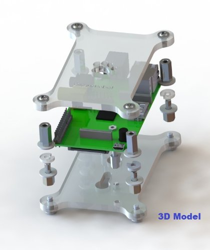 GeauxRobot Raspberry Pi B Stackable Case Kit