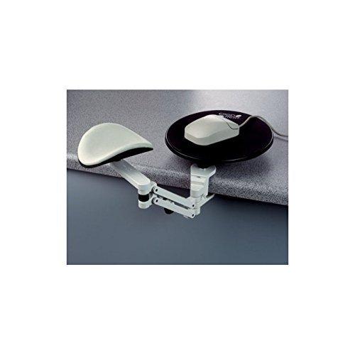 ErgoRest 350000 A40 Leder Handgelenkauflage mit Mousepad weiß/grau