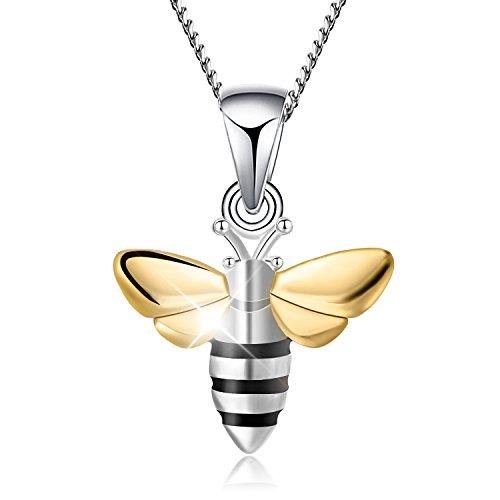 Lotus Fun - Collar con colgante de abeja de...