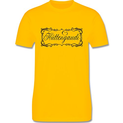 Après Ski - Hüttengaudi Vintage verspielt - Herren Premium T-Shirt Gelb