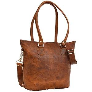 41fg05Ukb4L. SS300  - Gusti Bolso bandolera Therese bolso cruzar bolso mediano vintage marrón cuero