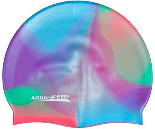 AQUA-SPEED® BUNT Badekappe (Silikon Bademütze Badehaube), Bunt / 51