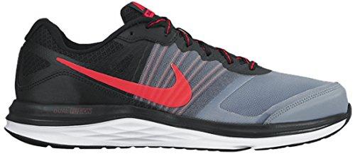 Nike Dual Fusion X Scarpe da Corsa, Uomo, Grigio/Nero/Rosso/Bianco, 40.5 Grigio/Nero/Rosso/Bianco