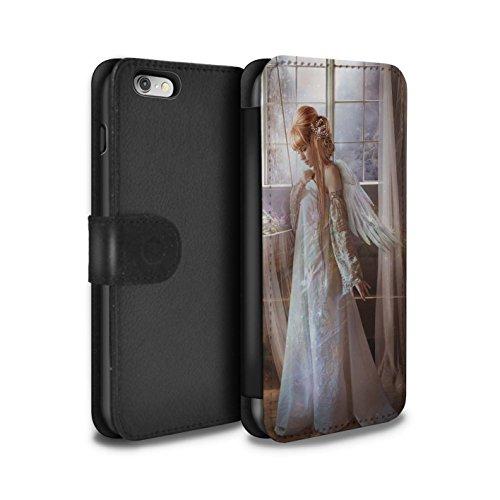 Officiel Elena Dudina Coque/Etui/Housse Cuir PU Case/Cover pour Apple iPhone 6S+/Plus / Étang Magique Design / Fées Élégantes Collection Robe Fleur/Mariée