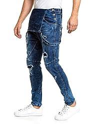 BLZ jeans - Salopette en jean bleu déchiré