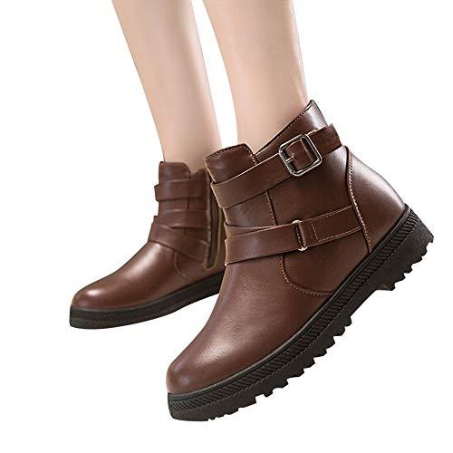 fa89d013d08d65 OSYARD Damen Snow Booties Ankle Stiefeletten Klassische s Lederstiefel