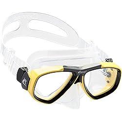 Cressi Focus Masque de Plongée Snorkeling Adulte, Compatibles Verres Correcteurs Clear/Jaune