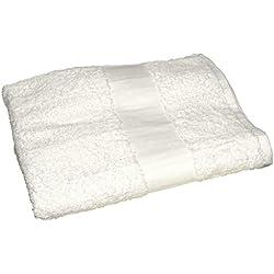 Toalla baño sábana algodón egipcio de City Blanco Única