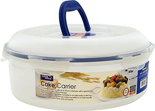 Lock & Lock Transportbehälter für Kuchen, mit ausklappbaren Griffen, bis 25cm