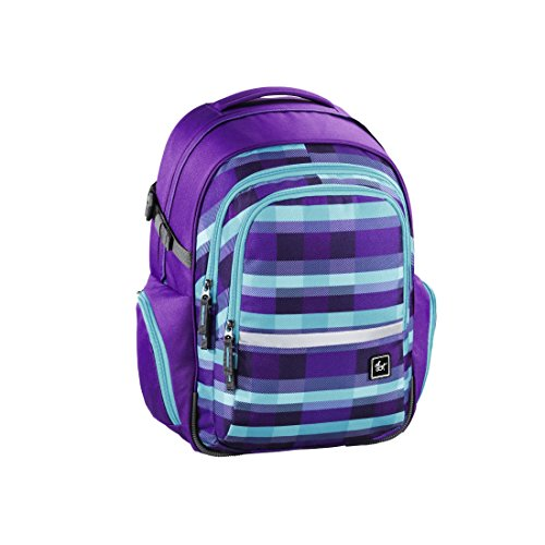 all out Filby Schulrucksack Summer Check Purple -