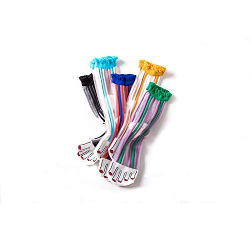 RADIANCY Mid-Tube Female Socks Ultradünne Süßigkeiten Vertikale Streifen Nähte Frauensocken Casual Wild Nylon 5 Pairs -