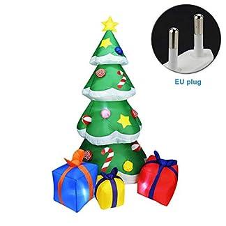xiegons0 Inflable Navidad Árbol Navidad Hinchable Árbol con Cajas de Regalo Luces LED Patio Jardín Decoración para Navidad Fiesta Celebración Decoración 2.1M Altura