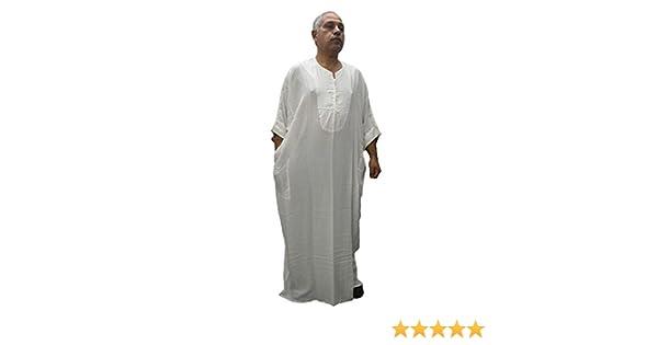 leggero e piacevole Candora Chilaba djelaba caftan cotone 100/% marocchino egiziano taglia unica e anche gente molto spessa misura 85 cm di larghezza e 140 cm di lunghezza molto comodo da indossare