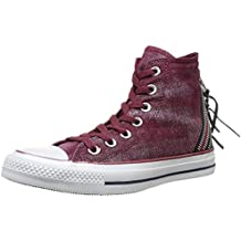 bcb97bdefe53 Converse Damen Chuck Taylor All Star Femme Sparkle Wash Tri Zip Hi Sneaker
