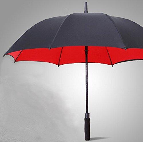 Golf ombrelloni ombrello manico lungo ombrello affari ombrello grande ombrello super antivento outdoor sunny umbrella, red, 110 cm