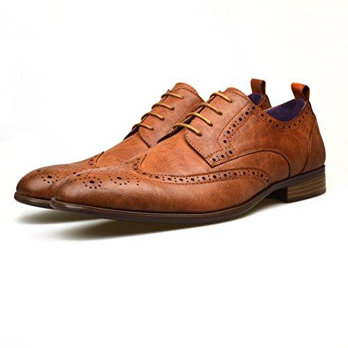 ClassyDude  El0532, Chaussures habillées homme Marron