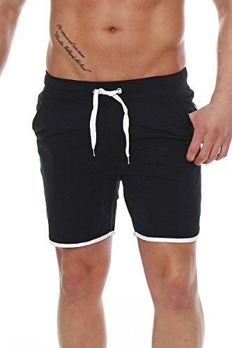 fb12fc551ea8 Happy Clothing kurze Herren Hose Shorts Bermuda Jogginghose Sommer Pants  Stoffhose Sweathose Schwarz