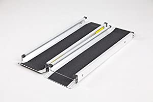Telescopic Economy Channel Ramps 4ft (122cm long) with black grip surface