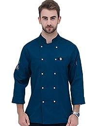 Dooxii Unisex Donna Uomo Autunno Manica Lunga Giacca da Chef Traspirante Torta  di Cottura Hotel Mensa Uniformi… a72cd6e8942a