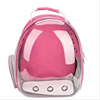 JBPX Pet Carriers Waterproof Pet Cat Backpack Pet Dog Carrier Bag Bubble Large Space Pet Carrier Backpack For Cat And Small Dog Outdoor Handbag 43X32X26Cm Pink