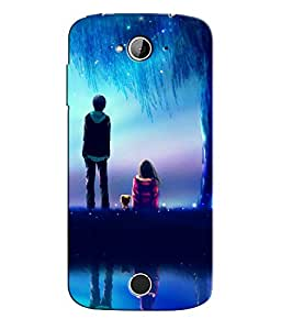 Citydreamz Boy and Girl\Love\Nature\Romantic\Valentine Hard Polycarbonate Designer Back Case Cover For Acer Liquid Z530