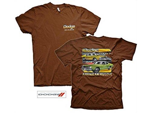 Dodge Dart T-Shirt schwarz Braun