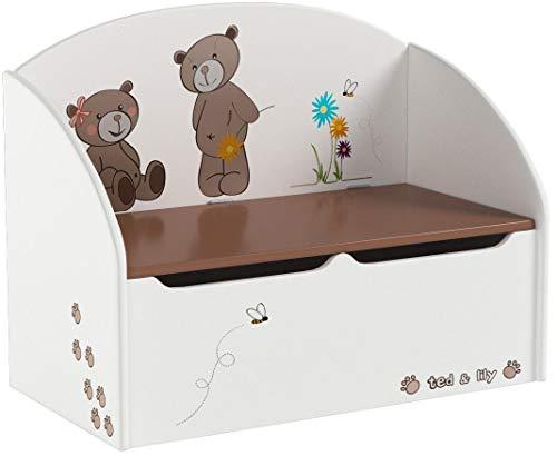 Demeyere Spielzeugtruhe Ted und Lily, beige/chocolate, 69.5×29.5×55.5cm - 2