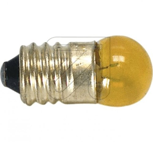 Globe Glühbirne (Globe Warehouse 10 Stück Kugellampe E10 gelb 3,5V 0,2 A Glühlampe Glühbirne)