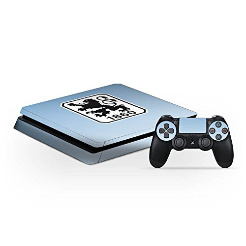Sony Playstation 4 Slim PS4 Folie Skin Sticker aus Vinyl-Folie Aufkleber TSV 1860 München Fanartikel Fußball