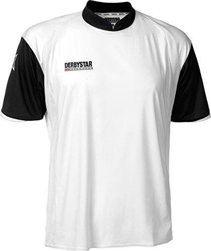 DERBYSTAR PRIMERA - Maglietta sportiva corta da uomo Bianco/Nero