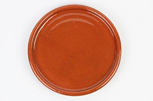 Plato de barro para chuletón, hecho a mano tradicionalmente. Medidas 28cm diámetro. 2,5cm altura. De muy buena calidad. 1,9 kg Totalmente artesanal