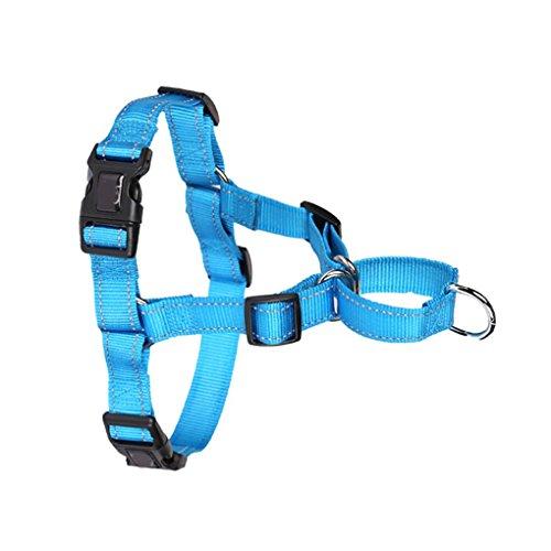 Meisijia Nylon Hundegeschirr Weste Reflektierende Haustier Kasten-Weste-Kragen-Bügel für Walking Medium Large Puppy Hunde