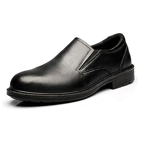 Der schwarze Slip-on-Oxford-Arbeitsschuh der Männer JACKBAGGIO 8815 (11 UK / 45 EU, Schwarz)