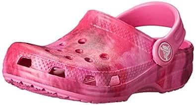 Crocs Classic Unisex Kids' Clogs - Candy Pink/Party Pink, 3 UK Junior