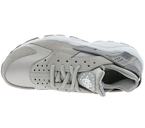 Nike W Air Huarache Run Prm Suede, Scarpe sportive Donna Grigio/bianco (Medium Grey/Off White)