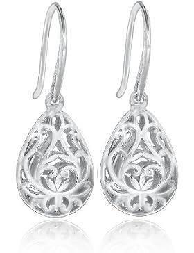 Tuscany Silver Ohrhänger Rhodiniert Sterling Silber Filigran