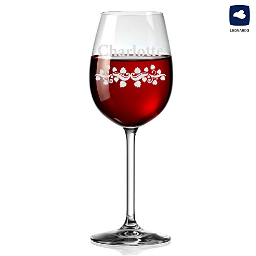 polar-effekt Leonardo Weinglas mit Gravur - Rotwein-Glas 460ml - Geschenkidee für Männer, Frauen...