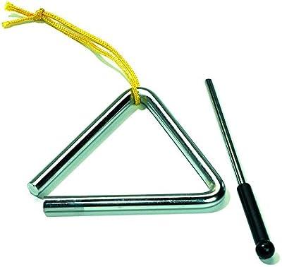 quac kduck Triángulo 10cm, con sujeción cuerda y mazo