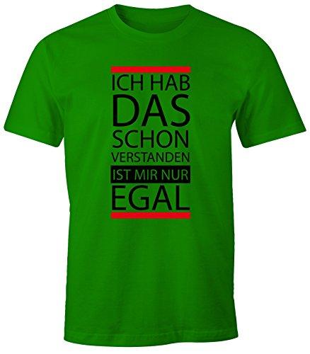 Nur Grünen T-shirt (lustiges Herren T-Shirt - Ich hab das schon verstanden, ist mir nur egal - Fun-Shirt MoonWorks® grün M)
