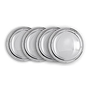 Radzierblendenset (4 Stück) 15 Zoll - Moon Caps für PKW, Oldtimer (aus verchromten Metall).