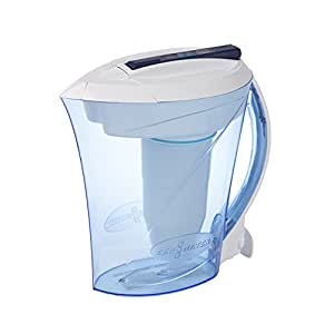 ZeroWater 10 Cup Water Filter Jug | Everyday Use Water Jug with 5 Stage Filtration System, Water Quality Meter and Water Filter Cartridge Included, 2.3 litres