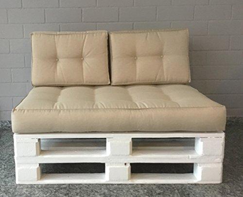 Mayaadi Home Rückenkissen für Palettenauflage Sofa Euro Paletten Polster MH-JC02 Grau (23) 120x40x10-20 cm