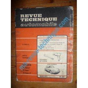 Descargar Libro RTA0322 - REVUE TECHNIQUE AUTOMOBILE CITROEN D Spécial - D Super - D Super 5 de ETAI