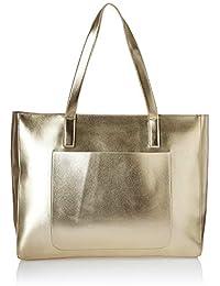 715ee371e1 Kanvas Katha Metallic Pu Faux Leather Fatty Women s Tote Bag (Silver)
