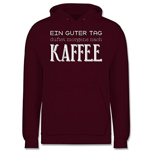 Küche - Ein guter Tag duftet morgens nach Kaffee - Männer Premium Kapuzenpullover / Hoodie Burgundrot