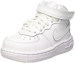 premium selection 90900 71b7f Nike Air Force 1 metà 07 Pelle Scarpe bianche 366731-100 Retro High Jordan