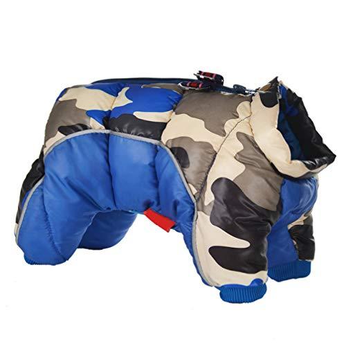 AMURAO wasserdichte Haustier-Mantel-Winter-Winddichte Baumwollhund-Jacke reflektierende warme stärkere kleine Welpen-Kleidung